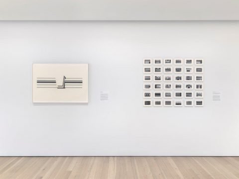 Installation view of Order and Ornament: Roy Lichtenstein's Entablatures (Whitney Museum of American Art, New York, September 27, 2019-April 2020). Photograph by Ron Amstutz
